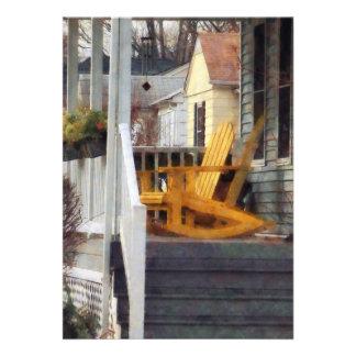 Yellow Adirondack Rocking Chairs Invitations