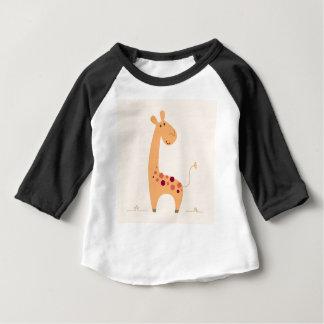 YELLOW AFRICA HOT GIRAFFE ART BABY T-Shirt