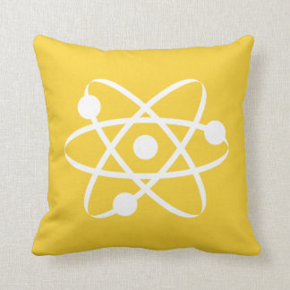 Yellow Amber Atom Cushion