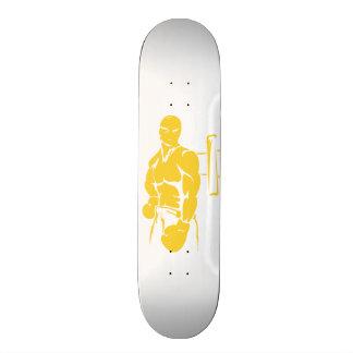 Yellow Amber Boxing Skateboard