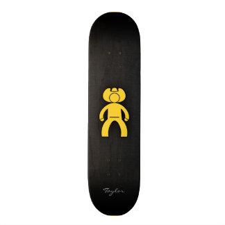 Yellow Amber Cowboy Skate Deck