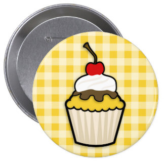 Yellow Amber Cupcake Buttons