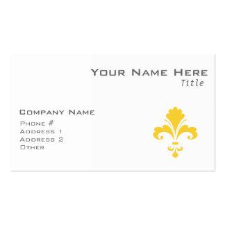 Yellow Amber Fleur de lis Pack Of Standard Business Cards