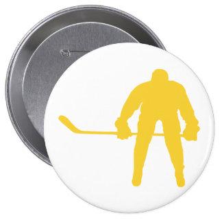 Yellow Amber Hockey Pin