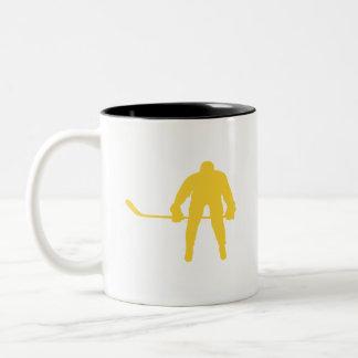 Yellow Amber Hockey Mugs