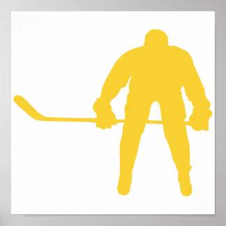 Yellow Amber Hockey Poster