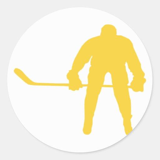 Yellow Amber Hockey Sticker