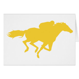 Yellow Amber Horse Racing Card