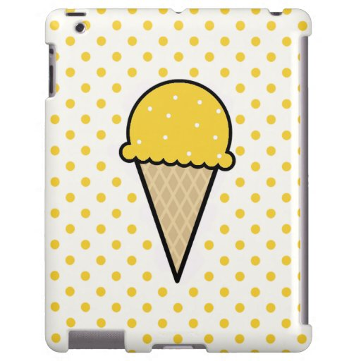 Yellow Amber Ice Cream Cone