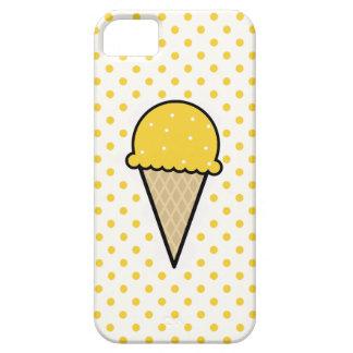 Yellow Amber Ice Cream Cone iPhone 5/5S Cases