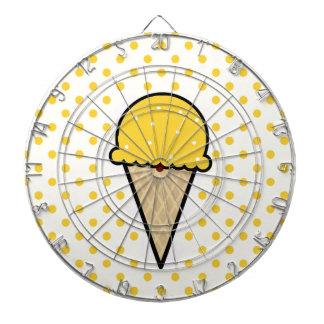 Yellow Amber Ice Cream Cone Dart Boards
