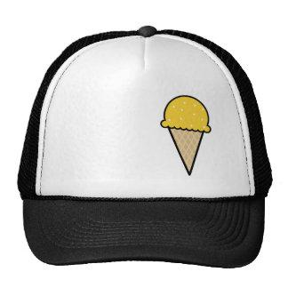 Yellow Amber Ice Cream Cone Trucker Hat