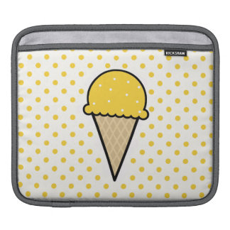 Yellow Amber Ice Cream Cone iPad Sleeves