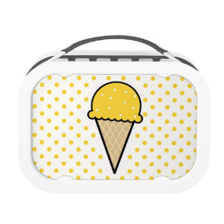 Yellow Amber Ice Cream Cone Yubo Lunch Box