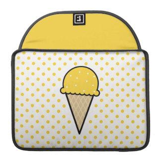 Yellow Amber Ice Cream Cone Sleeves For MacBook Pro