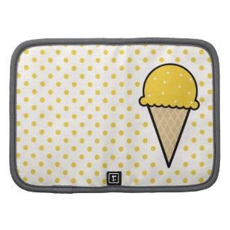 Yellow Amber Ice Cream Cone Organizer
