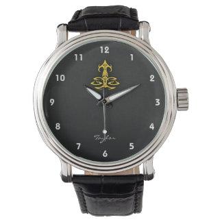 Yellow Amber Libra Wrist Watch