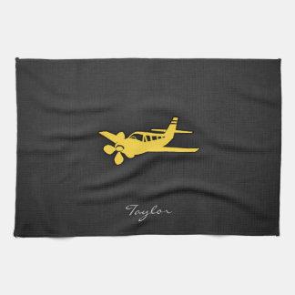 Yellow Amber Plane Towels