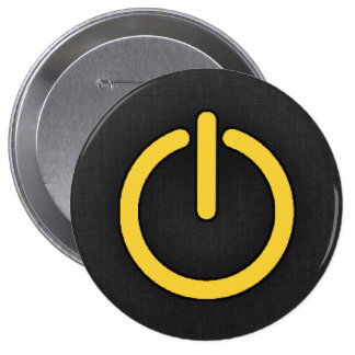 Yellow Amber Power Button