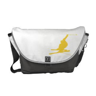 Yellow Amber Snow Ski Messenger Bag