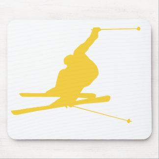 Yellow Amber Snow Ski Mouse Pad