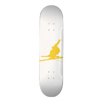 Yellow Amber Snow Ski Custom Skateboard
