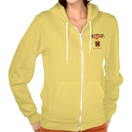 Yellow American Apparel Flex Fleece Zip Hoodie