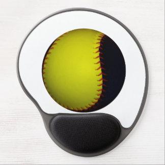 Yellow and Black Baseball / Softball Gel Mouse Pad