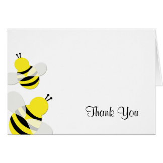 Yellow and Black Bumble Bee Thank You Card