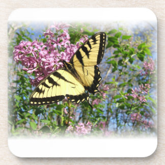 Yellow and Black Butterfly Coaster