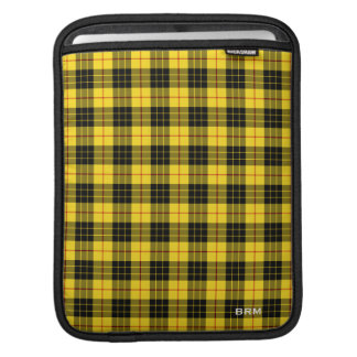 Yellow and Black Clan MacLeod Tartan Monogram iPad Sleeve