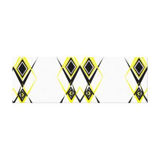 Yellow and Black Diamond Canvas Print