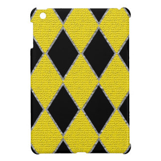 Yellow and black diamond IPad mini case