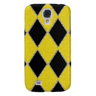 Yellow and black diamond Samsung galaxy case Galaxy S4 Cases