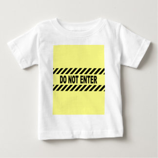 Yellow And Black Do Not Enter Sign Baby T-Shirt