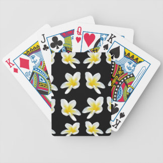 Yellow And Black Frangipani Pattern, Bicycle Playing Cards