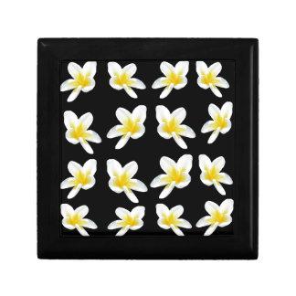 Yellow And Black Frangipani Pattern, Gift Box