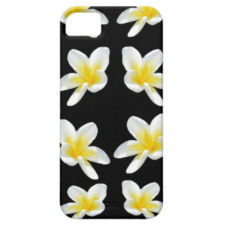 Yellow And Black Frangipani Pattern, iPhone 5 Cases