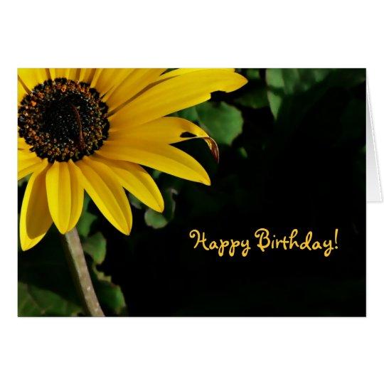 Yellow and Black, Happy Birthday! Card