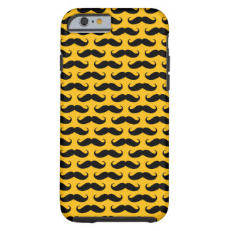 Yellow and Black Mustache Patterned iPhone 6 case Tough iPhone 6 Case