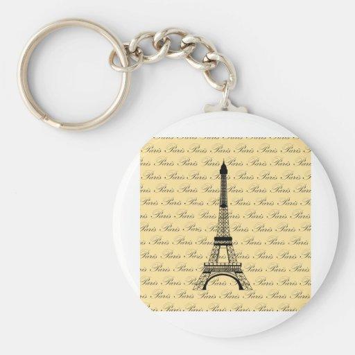 Yellow and Black Paris Eiffel Tower Key Chain