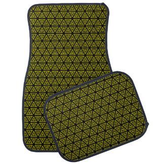 Yellow and black pattern car mat
