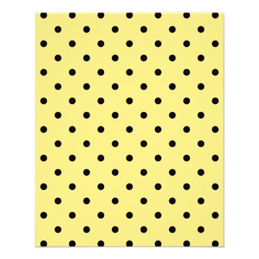 Yellow and Black Polka Dot Pattern. Personalized Flyer