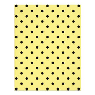 Yellow and Black Polka Dot Pattern Personalized Flyer