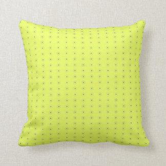 Yellow and Black Polka Dots Cotton Pillow