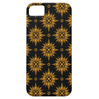 Yellow and Black Star Pattern iPhone 5 Cover