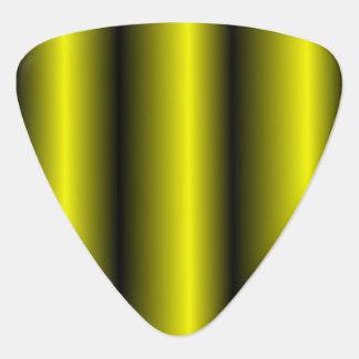 Yellow and Black Stripe Bumblebee Design Guitar Pick