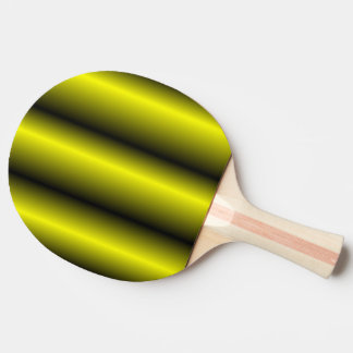 Yellow and Black Stripe Bumblebee Design Ping Pong Paddle