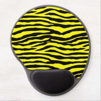 Yellow and Black Tiger Stripes Gel Mouse Pads