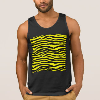 Yellow and Black Tiger Stripes Singlet
